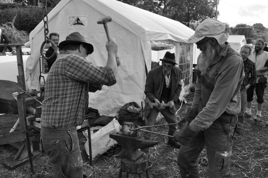 Iron Smelting Woodford Furnace Festival 2018 Lee Sauder Jake Keen