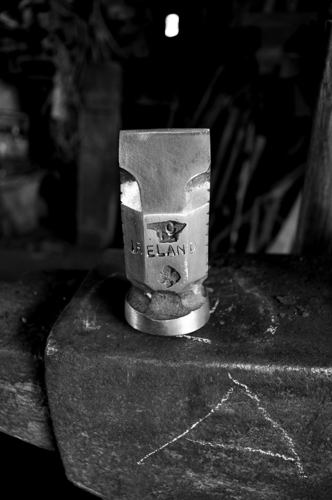 Blacksmith Finin Liam Christie forged hammer